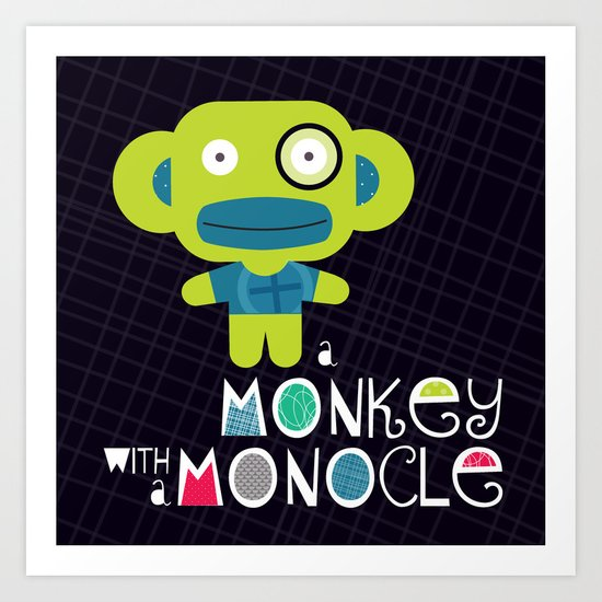 Monkey Mash-Up Art Print