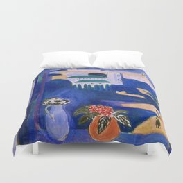 LANDSCAPE VIEWED FROM A WINDOW IN TANGIER - HENRI MATISSE Duvet Cover