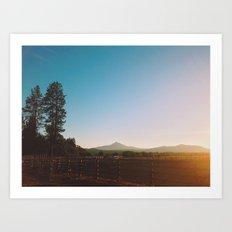 Black Butte Art Print