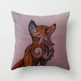 Majestic Fox Throw Pillow