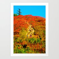 hiking Art Prints featuring Hiking by Ammar ZABOUN