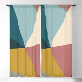 Minimal Abstract Shapes #6 Blackout Curtain