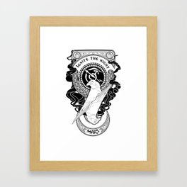 Sailor Mars art Nouveau Framed Art Print