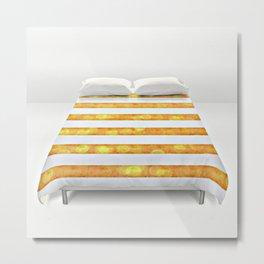 Golden Glitter Girly - Chic Stripes - Duvet Cover - Decor - Tech Metal Print