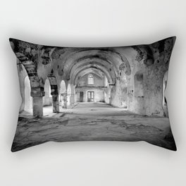 A derelict churh in Northern Cyprus Rectangular Pillow