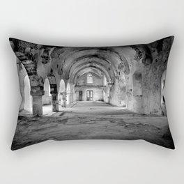 A derelict churh in Northern Cyprus Rectangular Pillow