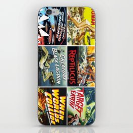 50s Sci-Fi Movie Poster Collage #1 iPhone Skin
