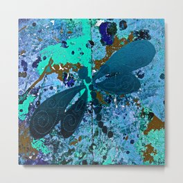 Dragonfly Blue Metal Print
