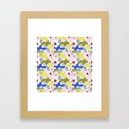 Floral Cameo Framed Art Print