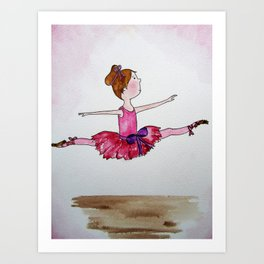 The Little Ballerina 2 Art Print