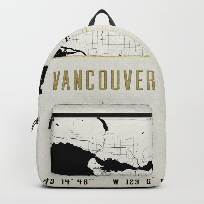 Vancouver - Vintage Map and Location Backpack