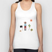 pirate Tank Tops featuring Pirate by MyimagesArt