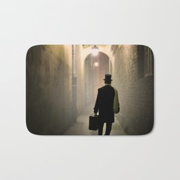 Victorian man with top hat Bath Mat