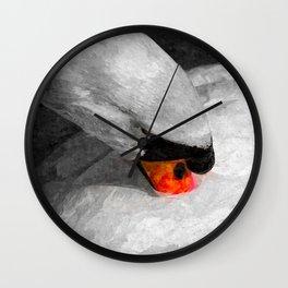 The Proud Swan Art Wall Clock
