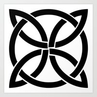 celtic knot symbol Art Print