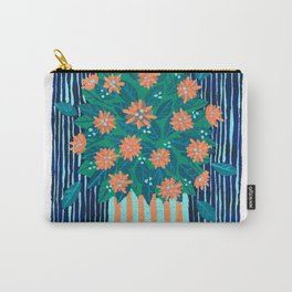 Flowers and Stripes potted plant bouquet Carry-All Pouch