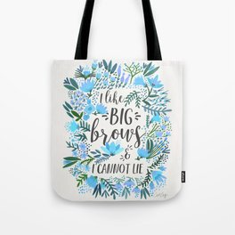 Big Brows – Blue Palette Tote Bag