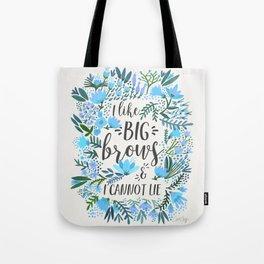 Big Brows – Blue Palette Tote Bag