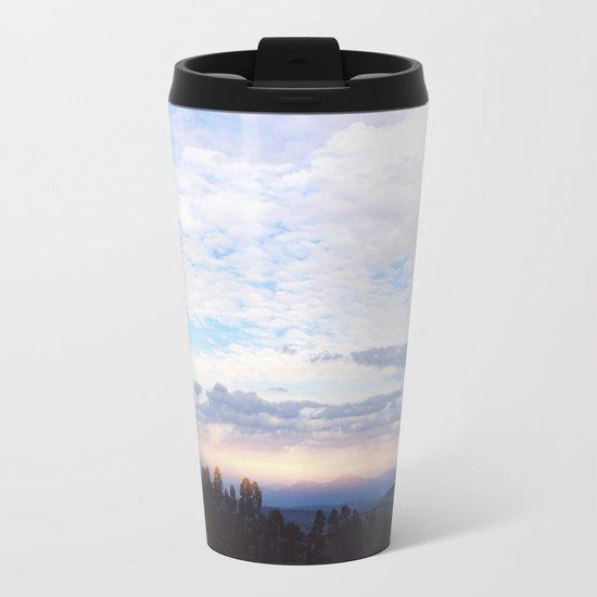 Landscape & Clouds Metal Travel Mug