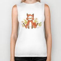 relax Biker Tanks featuring Relax by Pencil Box Illustration