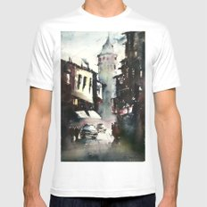 Galata Tower Mens Fitted Tee MEDIUM White