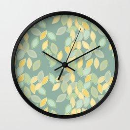 Feuilles Wall Clock