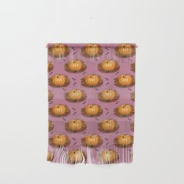 Fall Pumpkins in a Rosy Patch Wall Hanging