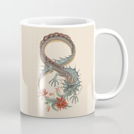 Botanical Flower Dragon 8 Coffee Mug