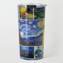 Vincent Van Gogh Montage Travel Mug