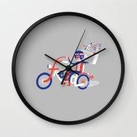 freedom Wall Clocks featuring Freedom by Wharton