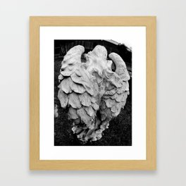 Angel's winged back Framed Art Print