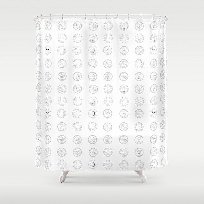 Gallifreyan Script Shower Curtain