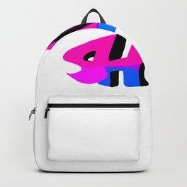 Pink baby shark sticker Backpack