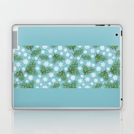 Elegance Xmas Pattern on Turquoise Laptop & iPad Skin