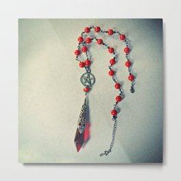 Red Pendulum Metal Print