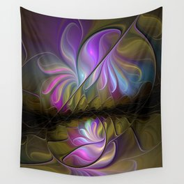 Come Together, Abstract Fractal Art Wall Tapestry