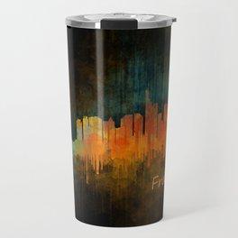 Frankfurt am Main, City Cityscape Skyline watercolor art v4 Travel Mug