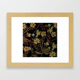 olive flowers Framed Art Print