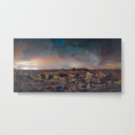 Exploring the Bisti Badlands of New Mexico Metal Print