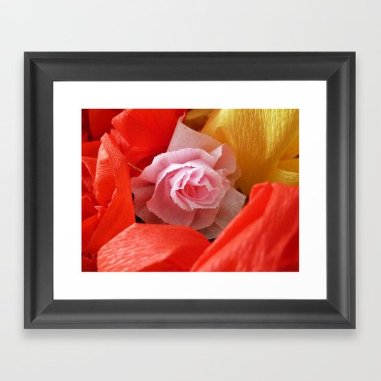 Paper handmade flowers Framed Art Print