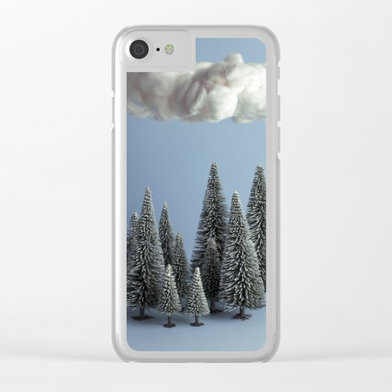 A cloud over the forest Clear iPhone Case