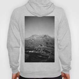 Mount St. Helens in Black and White - Holga Photograph Hoody
