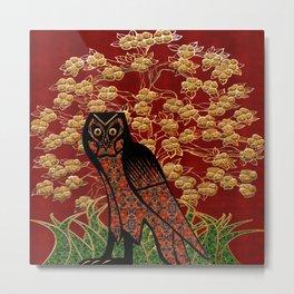 Owl Tapestry Metal Print