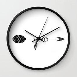 YOLO tribal arrow Wall Clock