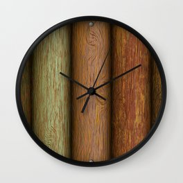 Realistic wood texture Wall Clock