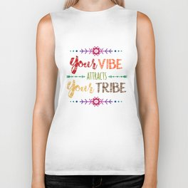 Colorful Tribal Bohemian decorative design Biker Tank