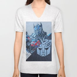 Optimus Prime  Unisex V-Neck