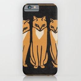 Three cats iPhone Case