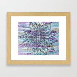 Serenity Flower of life  Mandala Framed Art Print