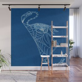 Flamingo Getting a Web Going Wall Mural